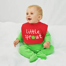 baby christmas sprout baby christmas bib by ellie ellie