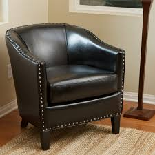 Target Tufted Chair Furniture Vintage Leather Club Chair For Minimalist Family Room