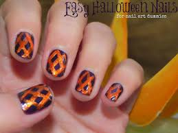 easy halloween nails for nail art dummies thefabzilla