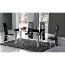 Glass Dining Sets 4 Chairs Black Glass Dining Table 6 Chairs Cheap Photogiraffe Me