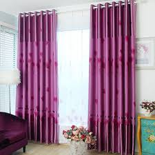 Thick Purple Curtains Lovely Cloud Pattern Blue Polyester Thick Fabric Blackout Bay