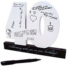 birthday signing board happy 40th birthday wooden signature number by ing co uk