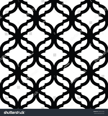 geometric trellis pattern black white seamless stock vector