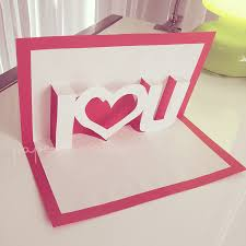 pop up valentines card template i u pop up valentine cards