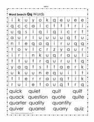 alphabet word search worksheets