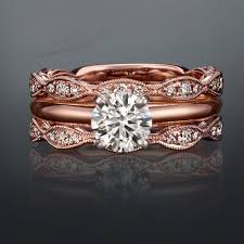 Gold Wedding Ring Sets by Best 25 Rose Gold Wedding Sets Ideas On Pinterest Gold Wedding
