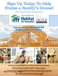 build a frame house what are you doing on april 29th let u0027s build a house okcmar