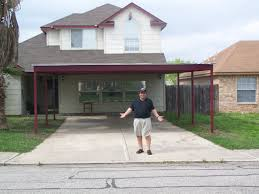 custom metal carport and porch addition south san antonio