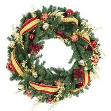 30 in battery operated plaza artificial wreath with 50 clear led