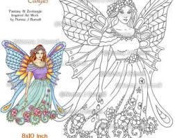 snow bird winter fairy printable coloring book pages norma