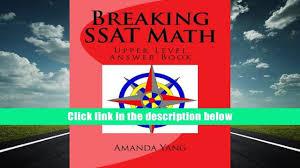 free download breaking ssat math upper level answer book amanda