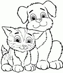 Coloriage chien et chat en ligne  1001 Animaux