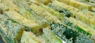 Fried Parmesan Oven Fried Parmesan Zucchini Fries Recipe Whats Cooking America