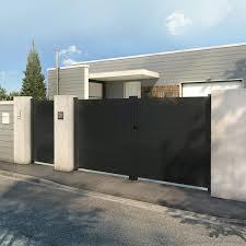 portillon jardin leroy merlin portail battant aluminium avignon gris l 300 cm x h 164 cm