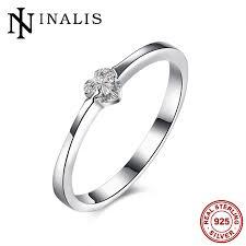 2017 minimalist 925 sterling silver jewelry 0 25 carat heart shape