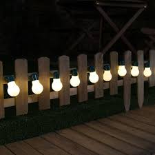 Solar Powered Patio Lights String by Solar Festoon Fairy Lights 12 Warm White