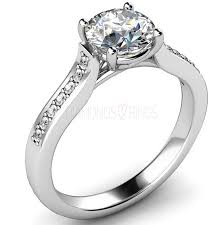 gold engagement rings uk engagement ring brilliant cut crossover