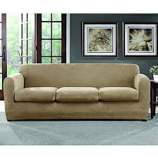 Three Cushion Sofa Slipcovers Sure Fit Ultimate Stretch Chenille 3 Cushion Sofa Slipcover Bed