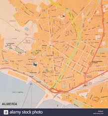 Map Of Spain Cities by Street Map Of The Spanish City Of Almeria Spain Stock Photo