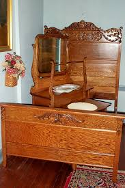 Antique Bedroom Furniture Three Piece Solid Oak Bedroom Set For Sale Antiques Com