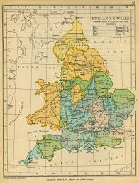Medieval England Map by