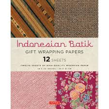 indonesian batik gift wrapping papers tuttle publishing