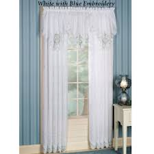 sunshine embroidered sheer window treatments