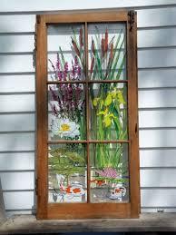 craft ideas using old windows so nice painted vintage window