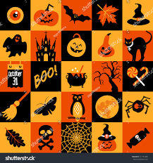 happy halloween banner color collage celebration stock vector