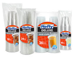 disposable cups deluxe clear plastic cups hefty