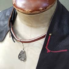 leather bib necklace images Asymmetric boho style brown bohemian leather bib necklace w jpg