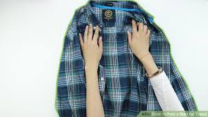 3 ways to fold a shirt for travel wikihow