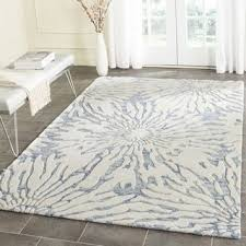Area Rugs 6 X 10 Safavieh Handmade Blue Ivory Wool Rug 8 X 10