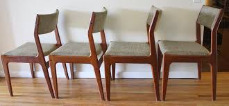 set of 4 mid century modern danish dining chairs picked vintage