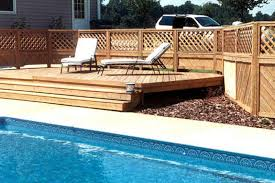 concrete pool deck ideas concrete flagstone simulation pool deck
