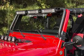 led light bar jeep wrangler rugged ridge windshield led light bar 97 06 jeep wrangler