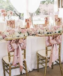 chair sash ideas blush pink wedding chair decorating ideas ivory gold wedding