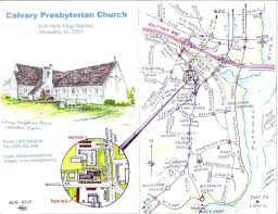 Alexandria Va Map Directions Calvary Presbyterian Church