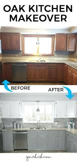 how to paint oak cabinets white painting oak kitchen cabinets white before and after painting oak