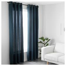Muslin Curtains Ikea by Mariam Curtains 1 Pair Blue 145x250 Cm Ikea