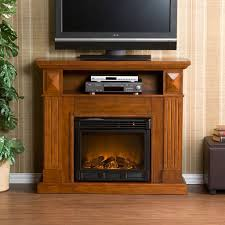 furniture large wooden tv stand with electric fireplace kit
