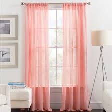 Coral Sheer Curtains Image Result For Black Curtains With Sheer Coral Baby Room