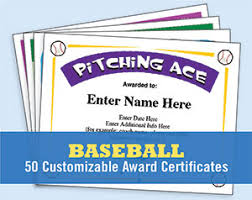 baseball certificates templates awards create your own