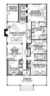 best 25 narrow lot house plans ideas on pinterest narrow house floor plan 3 beds 2 baths 1 story 1643 sq ft can add garage nice 2 walk in closets for master along with a screen porch and large front porch