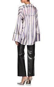 belted blouse white c o virgil abloh striped satin belted blouse barneys