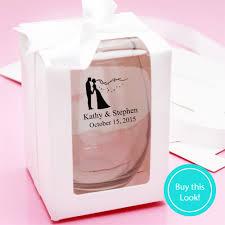 personalized wedding favor boxes las vegas personalized stemless wine glass personalized