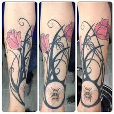 bee vine on arm tattooshunt com