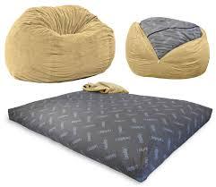 Oversized Bean Bag Chair Convertible Bean Bag Chair That Turns Into Mattress Legit Gifts