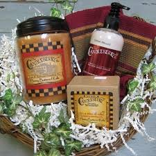 candle gift baskets candleberry candle or melting tart gift baskets the brick