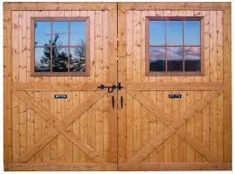 Barn Door Store by Large Breezeway Sliding Track Barn Doors With Window